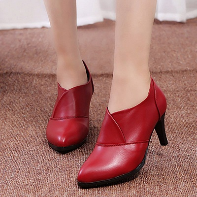 Daily Pointed Toe Cone Heel Elegant Boots_5