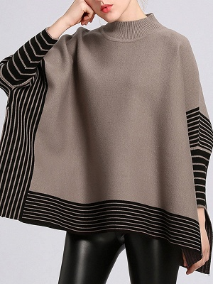Batwing Shift Casual Printed Sweater_2