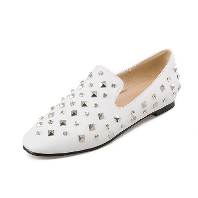 Rivet Daily Round Toe Chunky Heel Casual Loafers_7
