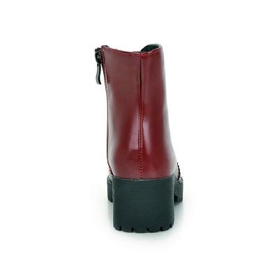 Fall PU Chunky Heel Round Toe Boot_13