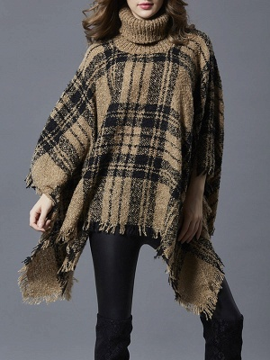 Casual V neck Batwing Sweaters_3