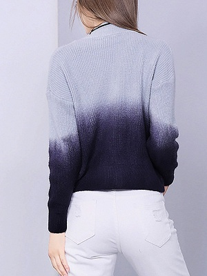 Blue Shift Knitted Casual Crew Neck Long Sleeve Knit Top_3