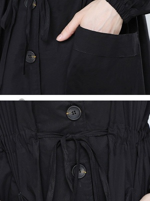 Solid Casual Long Sleeve Coat_7