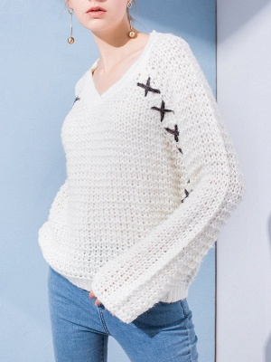 Long Sleeve Casual Knitted Sweater_6