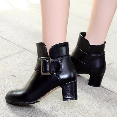 Chunky Heel Zipper Boots_7