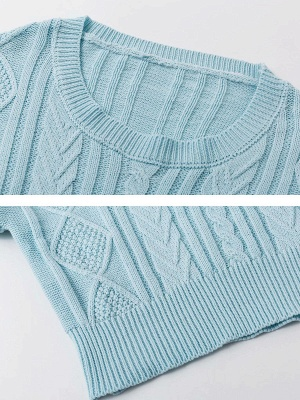 Shift Bell Sleeve Cotton Casual Sweater_6