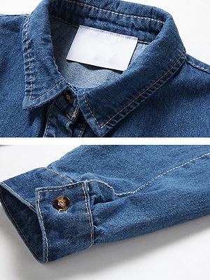 Long Sleeve Shift Casual Pockets Coat_7