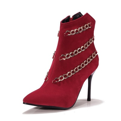 High Heel Suede Chain Boot_5