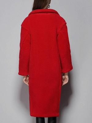 Long Sleeve Lapel Pockets Buttoned Coats_4
