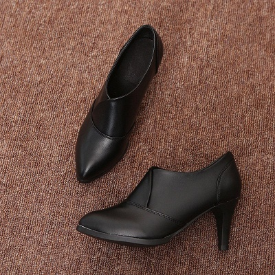 Daily Pointed Toe Cone Heel Elegant Boots_2