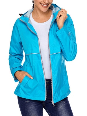 Shift Casual Long Sleeve Hoodie Zipper Pockets Solid Coat_4