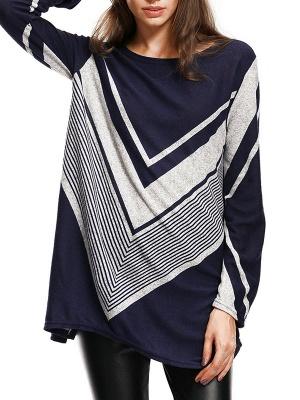 Long Sleeve Casual Wool Crew Neck Sweater_1