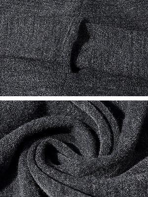 Gray Long Sleeve Casual Solid Pockets Coat_6
