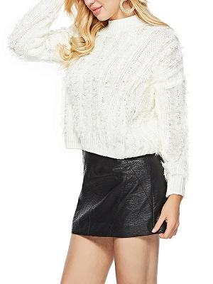 Long Sleeve Casual Geometric Sweater_6