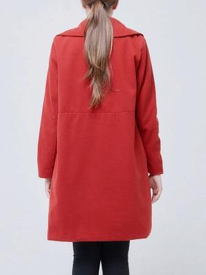 Shawl Collar Long Sleeve Casual Coat_5