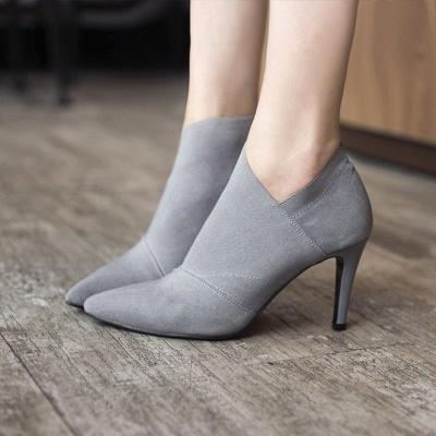 Pointed Toe Stiletto Heel Elegant Boots_8