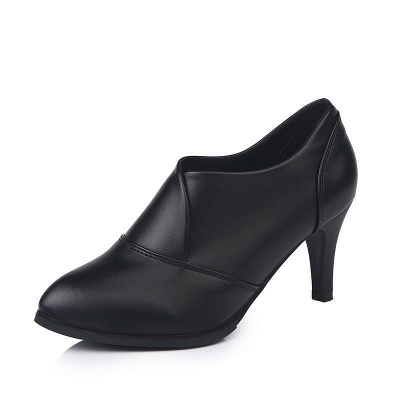Daily Pointed Toe Cone Heel Elegant Boots_7