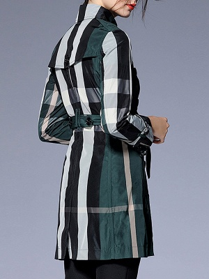 Shift Long Sleeve Checkered/Plaid Work Coat_6