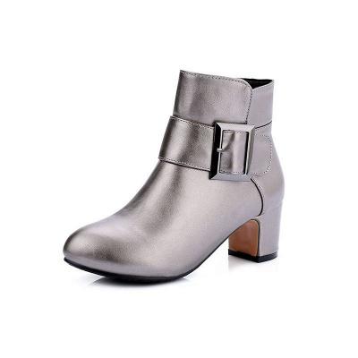 Chunky Heel Zipper Boots_3