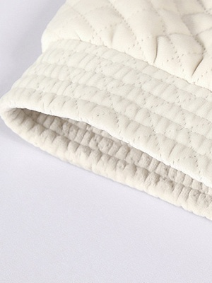 Long Sleeve Casual Paneled Shawl Collar Pockets Zipper Fluffy  Coat_8