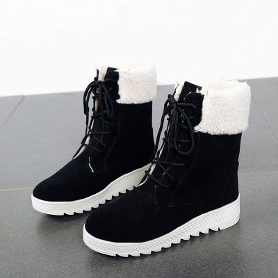 Winter Daily Wedge Heel Lace-up Suede Boot_9