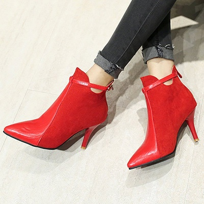Buckle Stiletto Heel Daily Elegant Boots_4