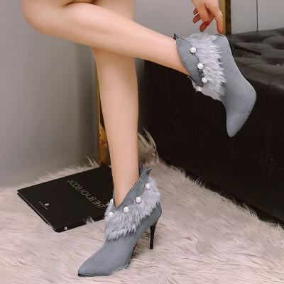 High Heel Zipper Suede Boot_5