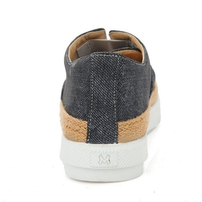 Summer Casual Round Toe Denim Wedge Loafers_12