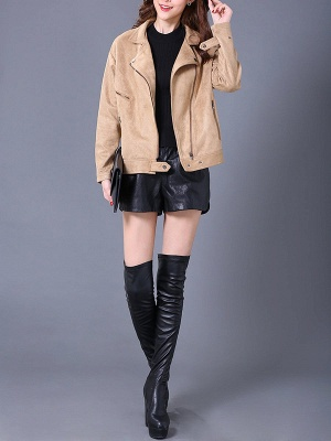 Shift Casual Solid Long Sleeve Coat_4