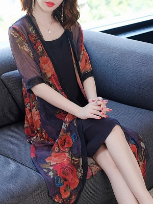 Elegant Printed Sunscreen Coat_7