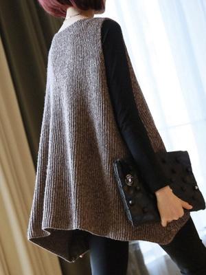 Shift V Neck Sleeveless Sweater_4