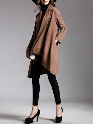 Asymmetric Long Sleeve Casual Coat_6