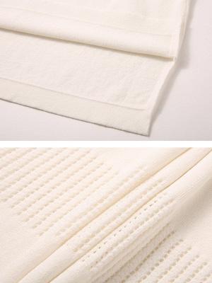 White Cutout Long Sleeve Shift Sweater_5