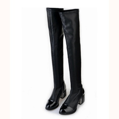 Daily Pointed Toe Chunky Heel Elegant Boots_4