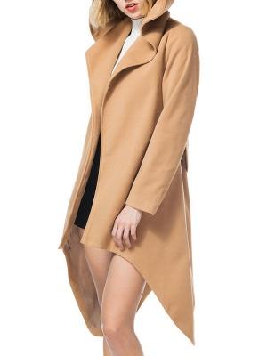 Long Sleeve Hoodie Asymmetrical Solid Casual Coat_9