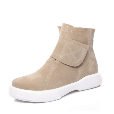 Flat Heel Round Toe Casual Middle Heel Boots_8