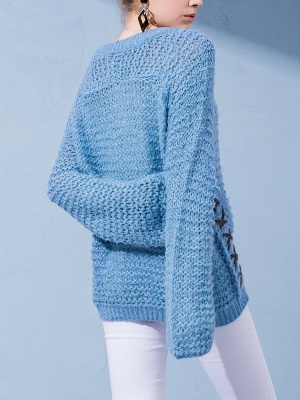 Long Sleeve Casual Knitted Sweater_4
