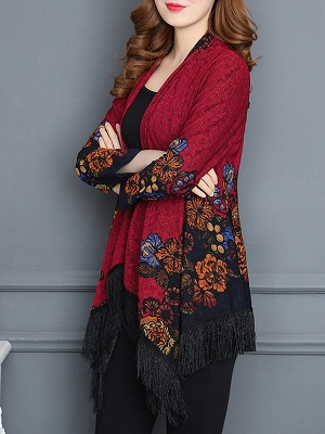 Floral Casual Long Sleeve Coat_10