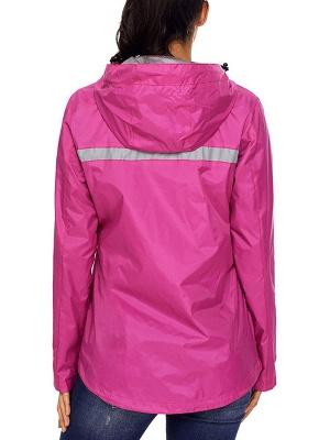 Shift Casual Long Sleeve Hoodie Zipper Pockets Solid Coat_7