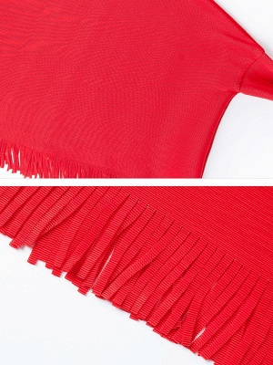 Fringed Batwing Casual Stand Collar Coat_10