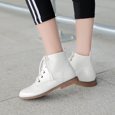 Low Heel Lace-Up Pointed Toe Boots_6