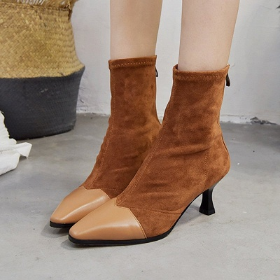 Zipper Cone Heel Daily Pointed Toe Elegant Boots_7