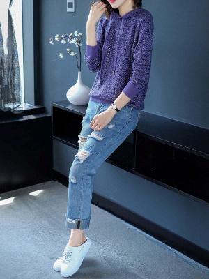 Hoodie Long Sleeve Casual Printed Sweater_7