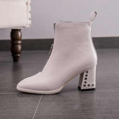Zipper Chunky Heel Winter PU Daily Middle Heel (3-8cm) Boot_7