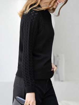 Casual Shift Long Sleeve Sweater_6