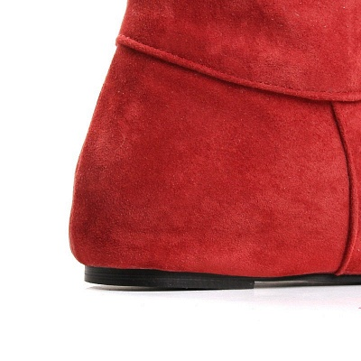 Suede Fall Round Toe Wedge Heel Boot_9