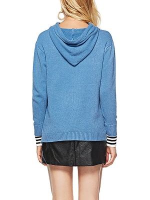 Long Sleeve Shift Casual Solid Sweater_6
