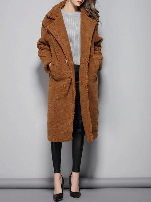Long Sleeve Lapel Pockets Buttoned Coats_7
