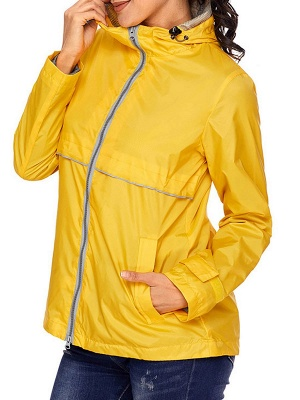 Shift Casual Long Sleeve Hoodie Zipper Pockets Solid Coat_3