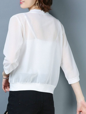 Casual See-through Look Shift Daytime Sunscreen Coat_18